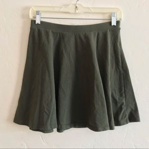 Forever 21 Olive Green Knit Skater Skirt Medium
